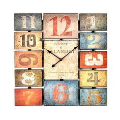 Love this!!!!   Antiqued Typography Clock at Kirkland's