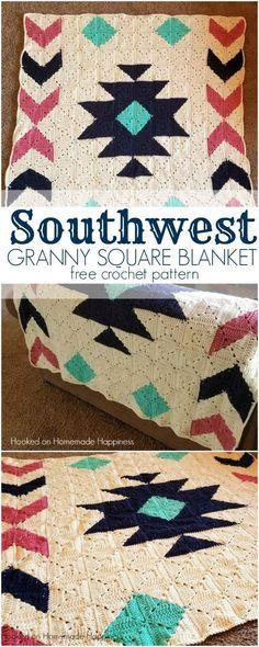 Southwest Granny Square Blanket