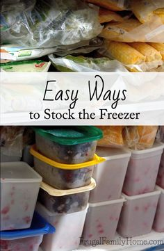 Keeping the freezer stocked doesn't have to take a lot of time.   Here's a few tips on how I keep my freezer stocked with meals and meat packages to make getting dinner done a breeze.