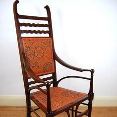 Art Nouveau, Armchair, Antiques, Places, Fabric, Furniture, Home Decor, Sofa Chair, Antiquities