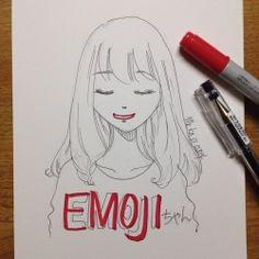 hmm   #mekaworks #drawing #emoji