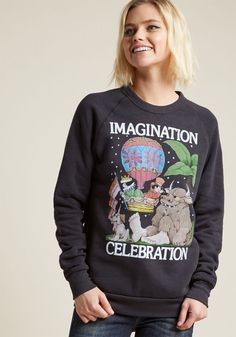 Iconic Mind Graphic Sweatshirt in XXL - Long Regular Waist by ModCloth