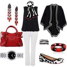 A fashion look from October 2011 featuring Christian Louboutin flats, Balenciaga handbags and Movado watches. Browse and shop related looks. Big Girl Fashion, Curvy Fashion, Love Fashion, Fashion Looks, Fashion Outfits, Plus Fashion, Womens Fashion, Fall Fashion, Plus Size Fashion For Women