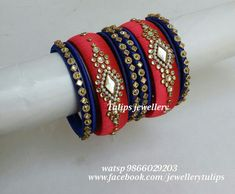 Silk Thread Bangles Design, Silk Thread Necklace, Silk Bangles, Indian Bangles, Bridal Bangles, Thread Jewellery, Jewellery Making, Chuda Bangles, Designer Bangles