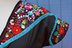 Embroidered Fiesta dress by Prida & Rodriguez Studios.  veronicaprida,com  #embroidered #mexicolor #folkloric #colorful #floral #bright #dress #madebyhand