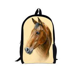3bc8f4ae02 Crazy horse printing backpack for school kids girls bookbags