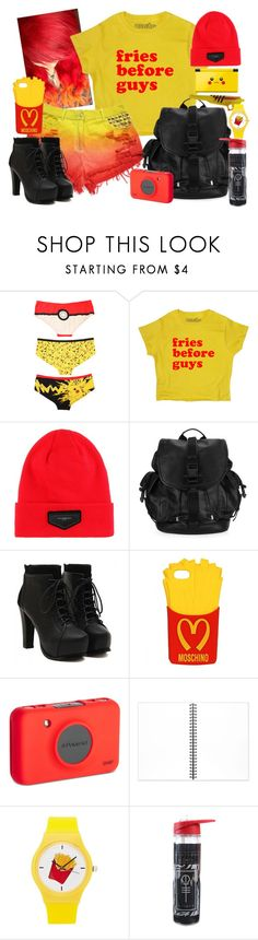 """""""Fries B4 Guys"""" by neverland-is-just-a-dream-away ❤ liked on Polyvore featuring Hot Topic, Givenchy, Moschino, Polaroid, Nintendo, Muji and Forever 21"""
