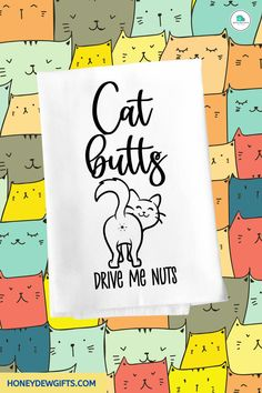 Anyone who owns a pet cat will find joy in displaying funny cat kitchen towels in their homes. If you want a hilarious cat lovers kitchen towel, get this towel.