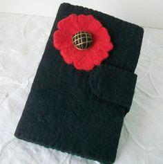 Tablet sleeve Gadget pouch Reader cover Black felt by sammysgrammy, $25.00
