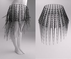 skirt full flexible 3d printed by studioluminaire.com