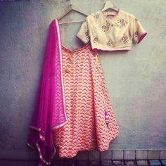 Art Silk Multicolour Printed Semi Stitched Lehenga - TF01