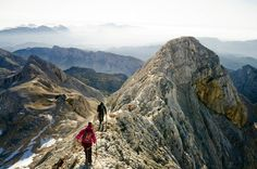 Mt Triglav's precipitous ridge.