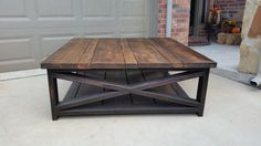 """The """"Farmhouse"""" coffee table with Kona base and Provincial top by Chateau2shanty"""