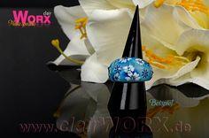 mit Airbrush verziert - Ring decorated with Airbrush, Nail Art, How To Make, Jewelry, Decor, Schmuck, Bangle Bracelet, Ring, Air Brush Machine