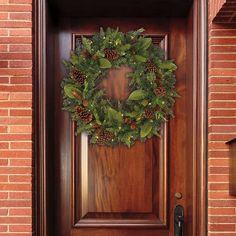 """32"""" Dual Color Artificial Wreath"""