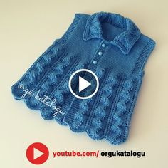 Knitting Patterns Free, Baby Knitting, Crochet Baby, Free Pattern, Knitting Videos, Embroidery Kits, Diy And Crafts, Sweaters, Fashion