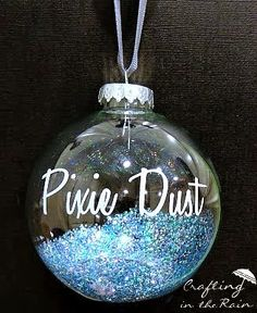 ": DIY Disney Christmas Ornaments! LOVE how easy it would be to make the ""Pixie-Dust"" ornament"
