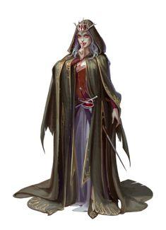 Female Human Lich - Arazni - The Harlot Queen - Pathfinder PFRPG DND D&D 3.5 5E 5th ed d20 fantasy