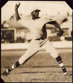 This photo captures a young Satchel Paige during his time with the Santa Clara Leopardos of the Cuban Leagues. Satchel played with the Leopardos in 1929 and 1930.