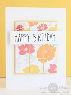 Floral Birthday by Tracy Schultz- stamps from Avery Elle & Lawn Fawn. Lots of inks from Hero Arts & Palette.