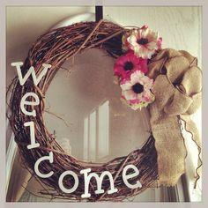 DIY spring/summer wreath I created for my wedding!