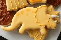 Baby Triceratops Cookies Cookie cutter from Bake It Pretty: http://www.bakeitpretty.com/dinosaur-triceratops-cookie-cutter/