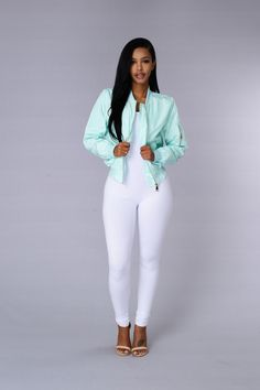 Picture Me Rollin' Jacket - Mint | Fashion Nova
