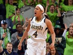 Skylar Diggins scored 21 points, all in the first half when ...