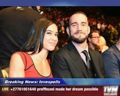Real life husband and wife Aj Lee & CM Punk Real Couples, Romantic Couples, Cm Punk Aj Lee, Wwe Top 10, Powerful Love Spells, Love Spell Caster, She Loves You, Show Video, Wrestling News