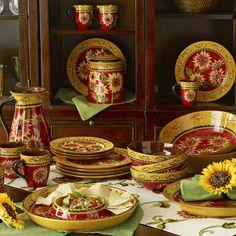 Maxcera Sunflower Dinnerware Amp Serving Dishes Ebay