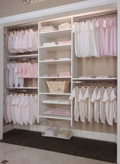 Image of: nursery closet systems nursery decor детский шкаф, Baby Nursery Closet, Baby Girl Closet, Kid Closet, Baby Bedroom, Baby Room Decor, Kids Bedroom, Closet Ideas, Baby Closets, Basement Bedrooms