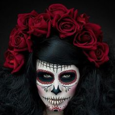 ImageFind images and videos about makeup, Halloween and sugar skull on We Heart It - the app to get lost in what you love. Fete Halloween, Halloween Make Up, Halloween Costumes, Mexican Halloween, Halloween Couples, Halloween 2014, Halloween Face, Maquillaje Sugar Skull, Photoshoot Idea