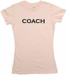 Coach Logo Womens Tee Shirt XL-Pink Babydoll ...