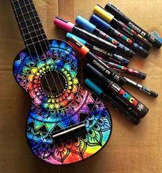 Guitarra decorada