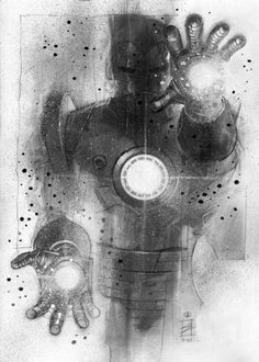 iron man...I want this painting on my wall!