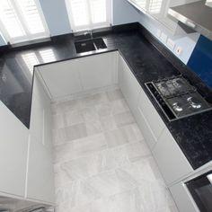 Nero Venata - Cambridge, Cambridgeshire - Rock and Co Granite Ltd Black Quartz, Granite, Tile Floor, Tile Flooring