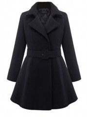 Trendy Lapel Plain Overcoats