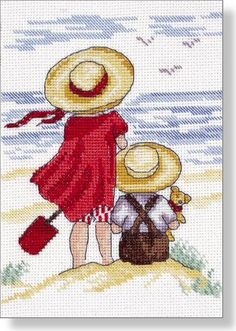 Watching - Faye Whittaker Arts, All Our Yesterdays Cross Stitch and Original Art Wesbsite