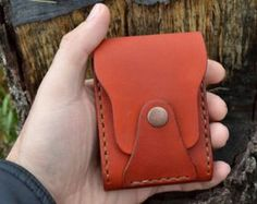 This mini wallet old friend. Beautiful and practical mini wallet made from genuine harness - saddle leather. Perfect for credit cards and folded bills. Closing of a button. If you do not like big wallets, this wallet for you to find. A thread of light brown color. Wallet has an antique and a bit shabby appearance. This is intentional. Wallet is sewn entirely by hand. Mini wallet canhandle the shoe polish is the appropriate colo(preferably colorless)r. This wallet can also be used for…