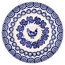 Купить Эмма Бриджуотер Курица и Border плита, синий Online на johnlewis.com