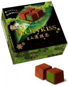 Meiji Meltykiss  Chocolate Melty Kiss Cubes Rich Matcha Green Tea Premium Japan #Meiji