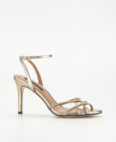 Ann Taylor Strappy Crystal Sandals on shopstyle.com