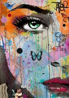 "Saatchi Art Artist LOUI JOVER; Drawing, ""come out to play"" #art"