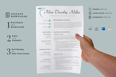 Elementary Teacher Resume CV Template for MS Word & Pages + Cover Letter + References + icons in Resume Templates on Yellow Images Creative Store Cover Letter Format, Cover Letter Template, Cv Template, Resume Format, Resume Layout, Resume Cv, Resume Design, Cv Format, Teacher Resume Template