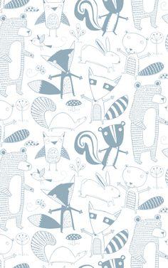 Friendly Forest by Loboloup #pattern #illustration