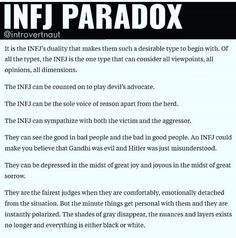 """So true, but I wouldn't say my personality type is """"desirable"""", like the pin says. It's really hard to be like this. Infj Mbti, Intj And Infj, Infj Type, Enfj, Infj Traits, Rarest Personality Type, Myers Briggs Personality Types, Infj Personality, Advocate Personality Type"""