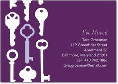 Key Collection - #Moving Announcements - DwellStudio in Amethyst Purple
