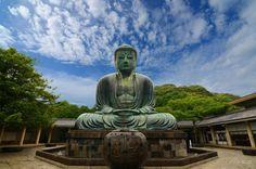 the great buddha daibutsu on the grounds of kotokuin temple in kamakura japan