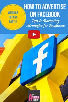 [ VIDEO ] webinar replay Part 2 of a 2 part Facebook marketing training series for beginners...Facebook  Advertising Tips & Strategies Before You Go Diving In…Blueprint for a Successful Facebook Ad Campaign-I hear from many people that they are bombing big time when it comes to their Facebook advertising efforts.And to add insult to injury, Facebook seems to be constantly modifying and updating their algorithms...Let's shed a little light and insights on this topic here.