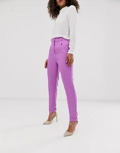 ASOS DESIGN Tall - Dream - Pantalon de costume ajusté - Lilas | ASOS Asos, Mode Purple, Pantalon Costume, Capri Pants, Fashion, Pants, Suits, Moda, Capri Trousers